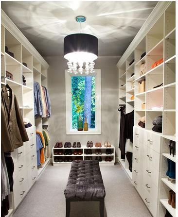 主卧衣帽间效果图,精致衣柜设计