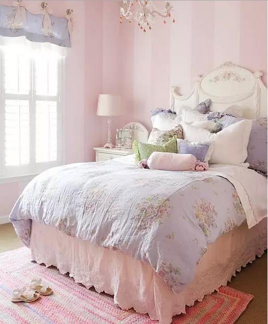 粉色儿童房效果图,看可爱小公主养成记