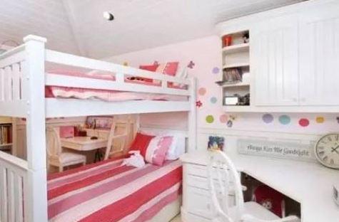 一个儿童房上下铺搞定二胎时代