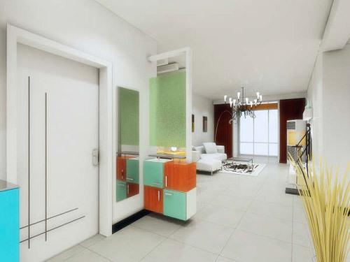 客厅玄关装修效果图 精彩无限的入户风景高清图片