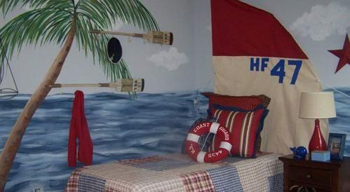 趣味十足  儿童房背景墙手绘效果图