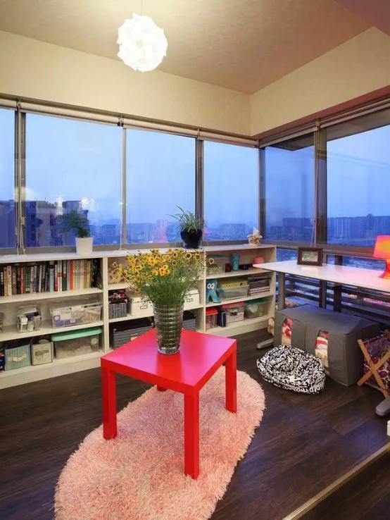 阳台改造书房怎么做