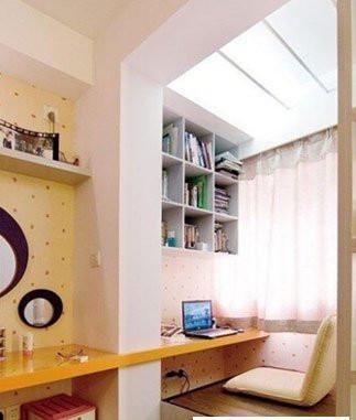 装修案例36计 | 阳台改造书房效果图