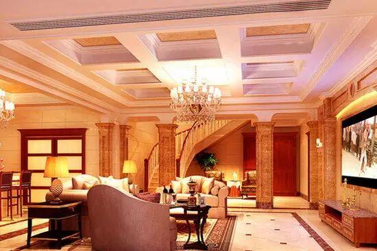 欧式客厅吊顶装修设计效果图大全