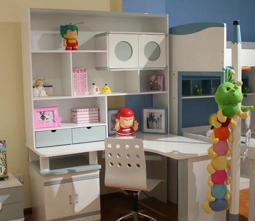 儿童房书桌组合效果图欣赏!