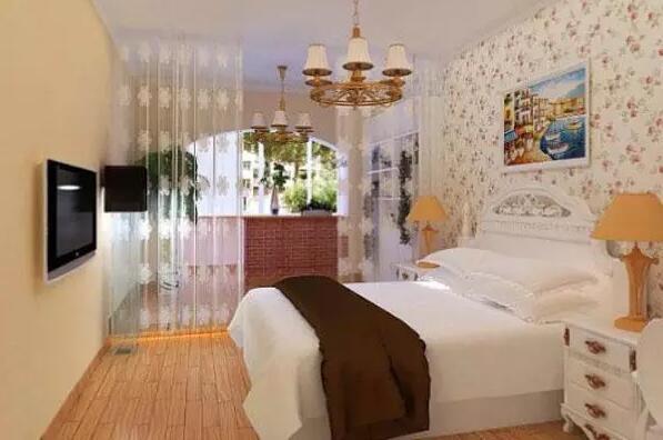 田园风格墙纸卧室效果图欣赏