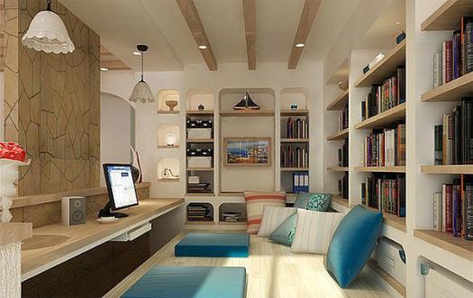 阳台榻榻米书房设计图都有什么样的呢