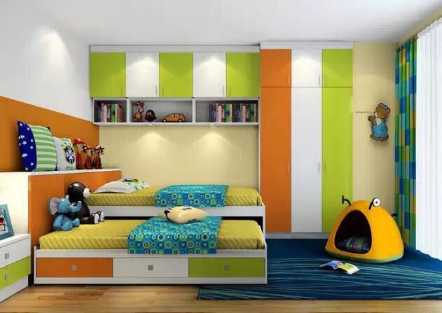 儿童房间上下床图片