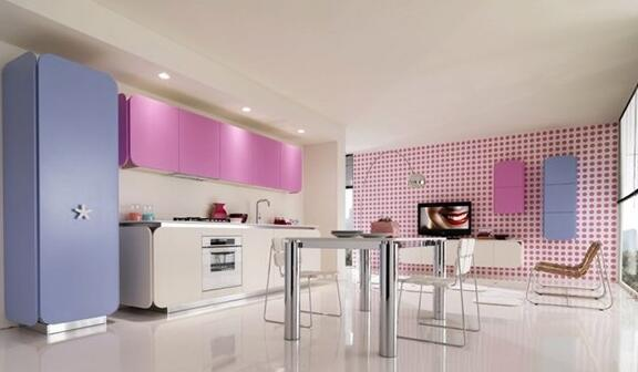 厨房吊顶粉色效果图好看吗