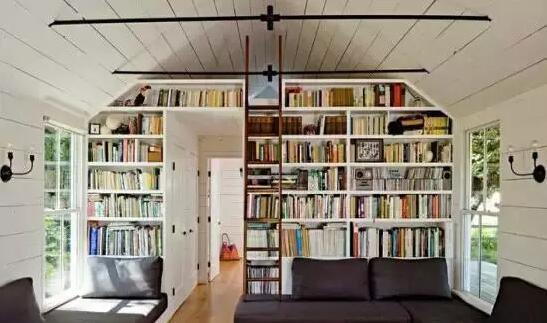 美式书房装潢设计效果图