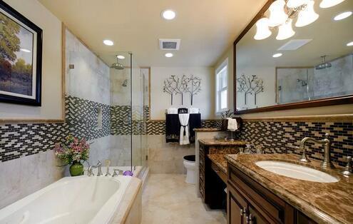 时尚卫生间地板砖图片欣赏