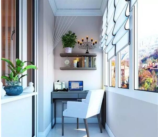 阳台书房装修设计,不同搭配不同体验!