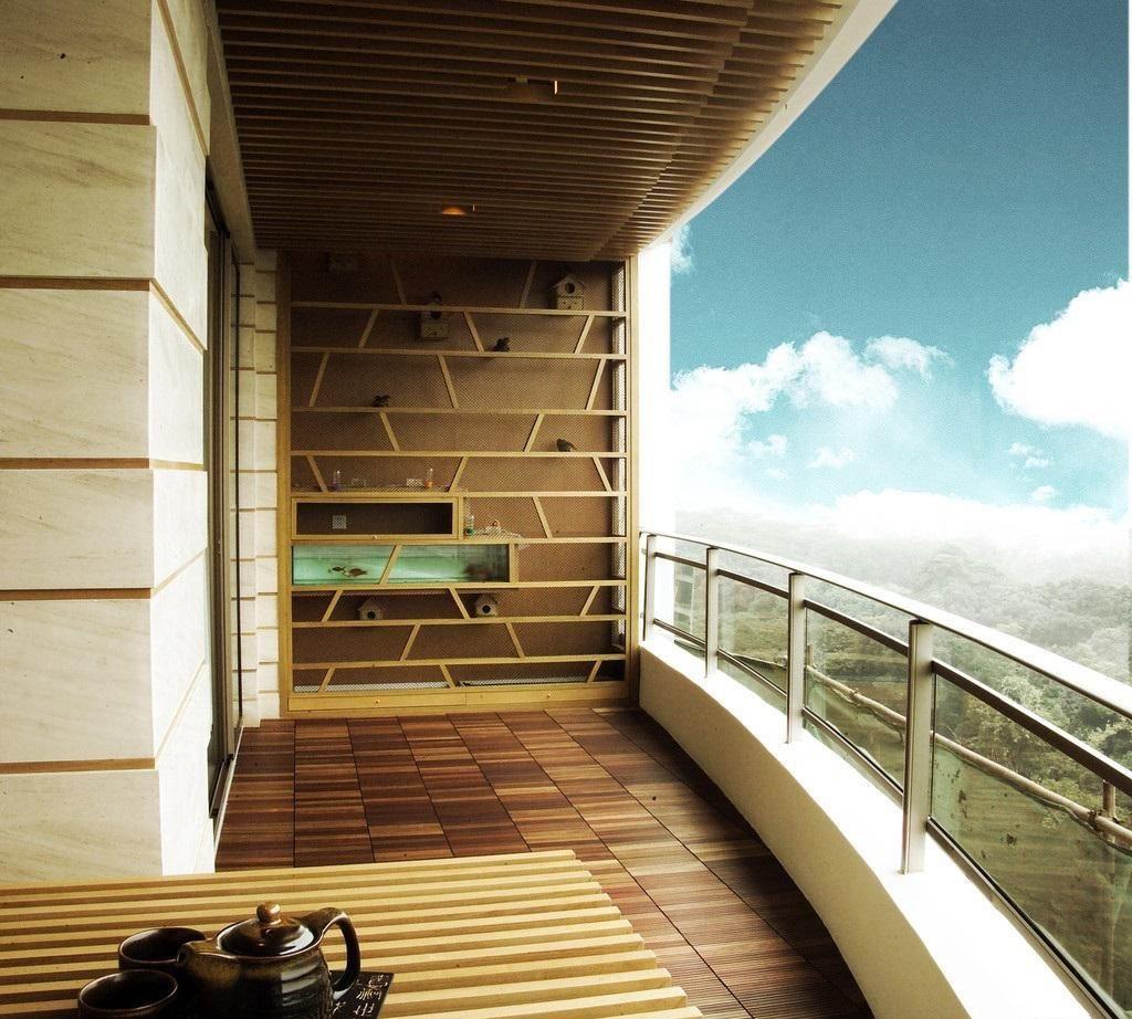 弧形无框阳台流行搭配,无框阳台装修效果图
