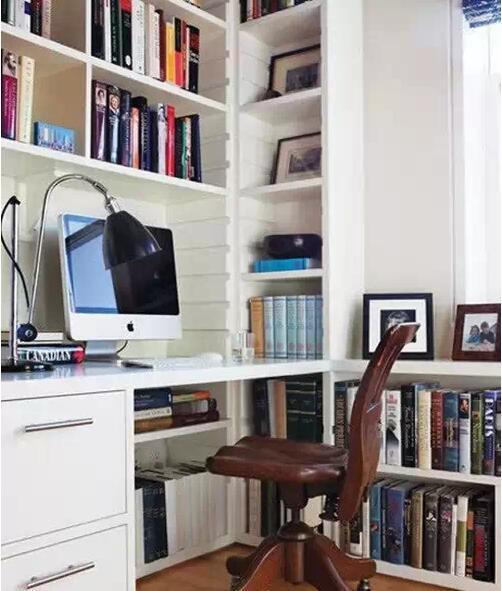 超小书房设计效果图解析