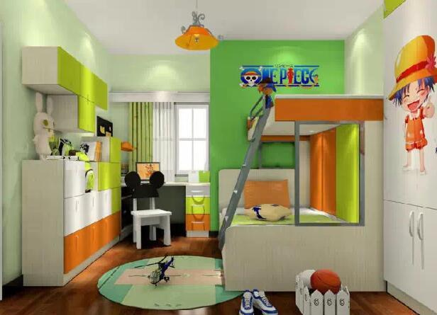 超省空间儿童房上下床设计效果图推荐