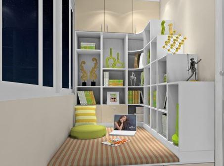 阳台做书房效果图,满足广大业主需求