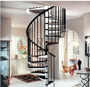 家居装修中的旋转楼梯设计