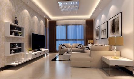 现代简约电视背景墙是什么样子的