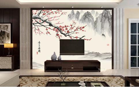 电视墙壁纸效果图是怎样的