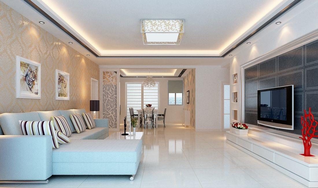 客厅灯效果图推荐,选购买多大合适?