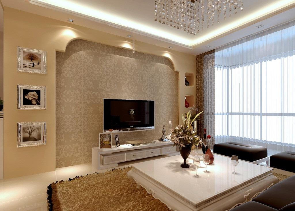 电视墙装修效果图推荐,现代简约模板