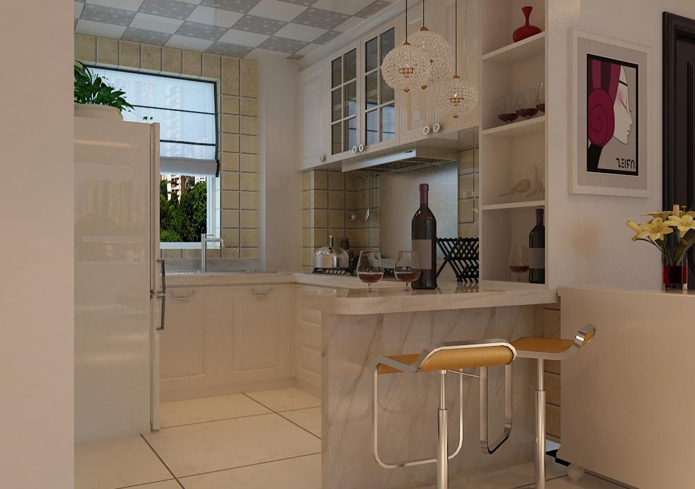 开放式厨房隔断,吧台可以怎么搞?