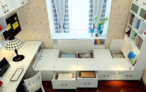 想象榻榻米卧室的收纳空间