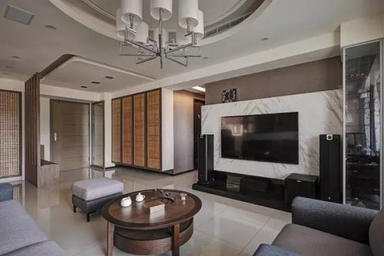 墙裂推荐!几款不同风格的客厅电视背景墙