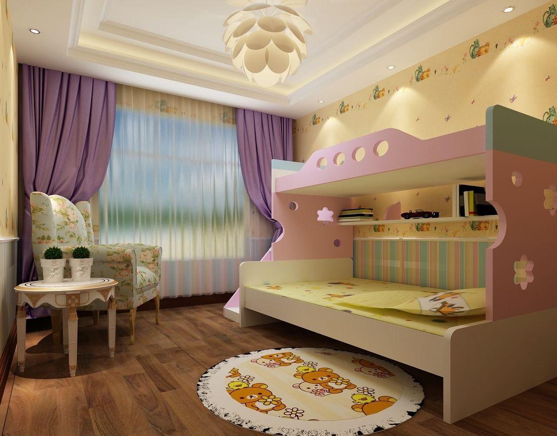 儿童房装修效果图赏析,增加童年趣味!
