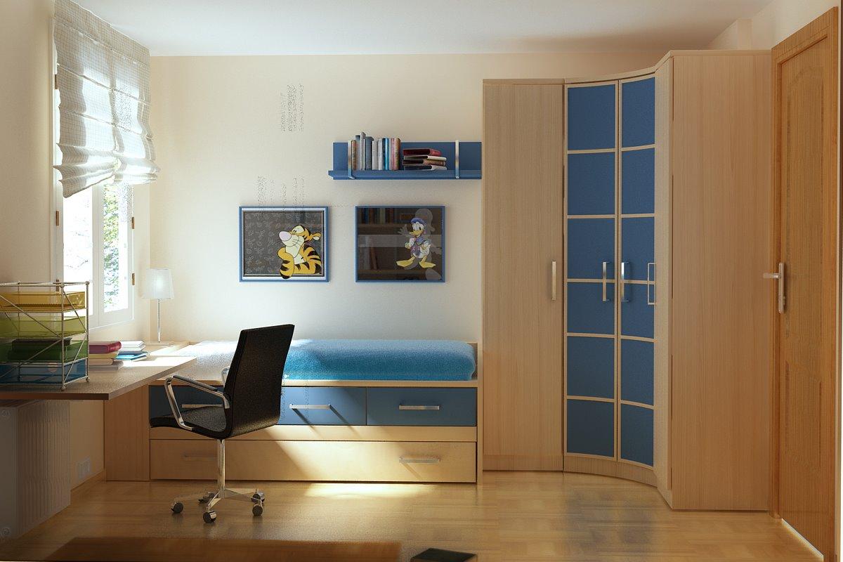 儿童房效果图欣赏,尽享小空间魅力