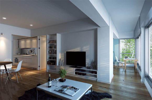 家中各个区域的家居设计效果图