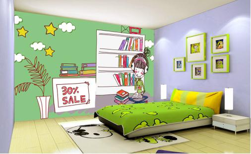 儿童房壁纸效果图赏析,总有一款是你的!