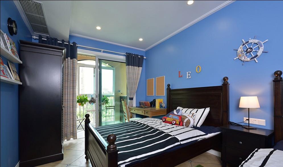蓝色儿童房设计效果图,带你遨游蓝色海洋