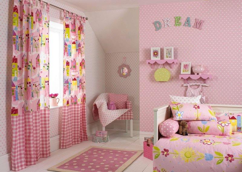粉色儿童房效果图,给孩子暖暖的爱