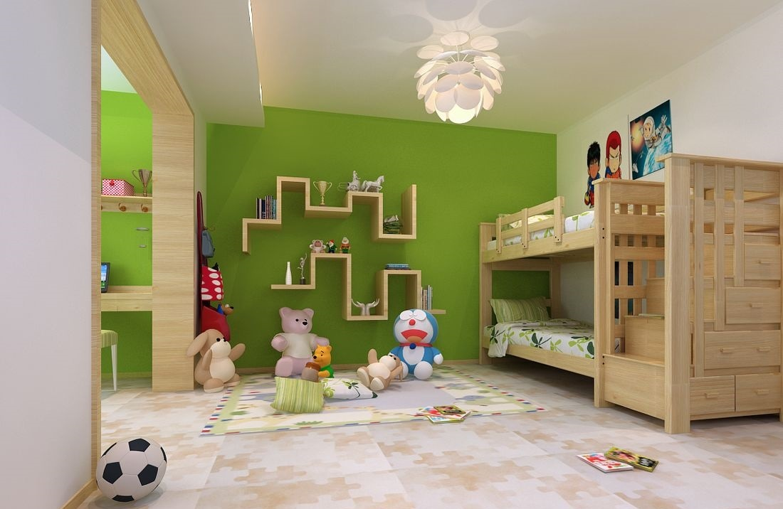 不同年龄段,不同儿童房装修效果图