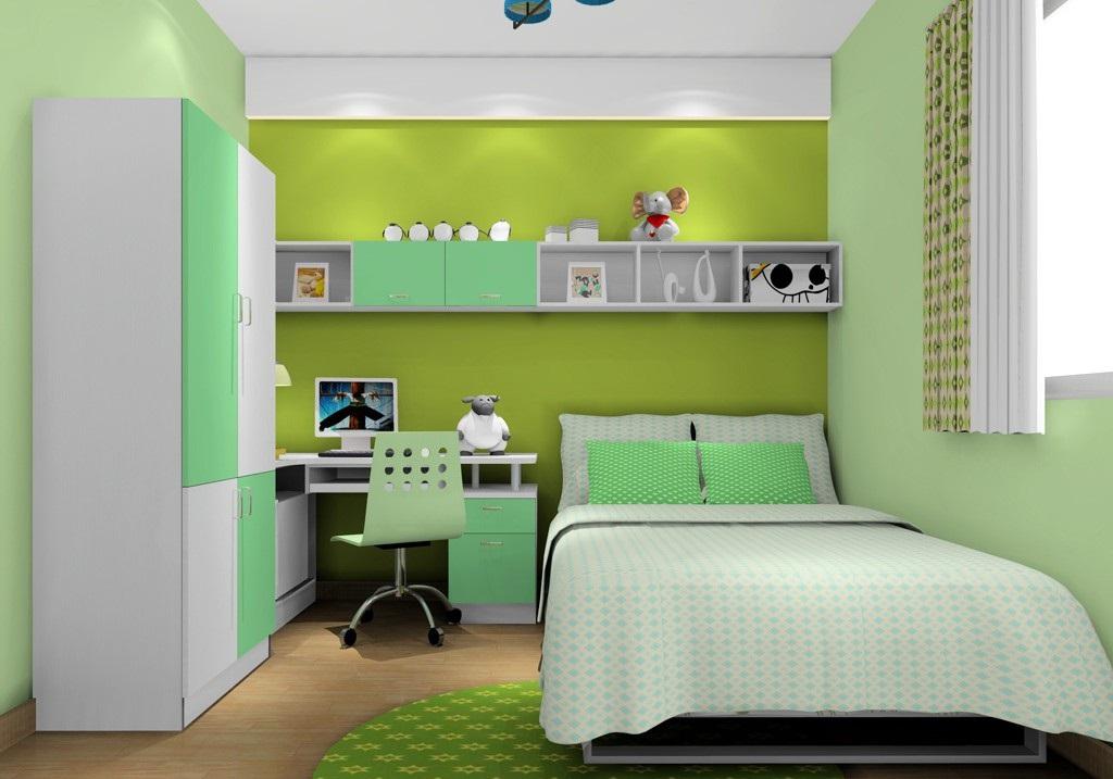 青春有活力绿色儿童房效果图赏析