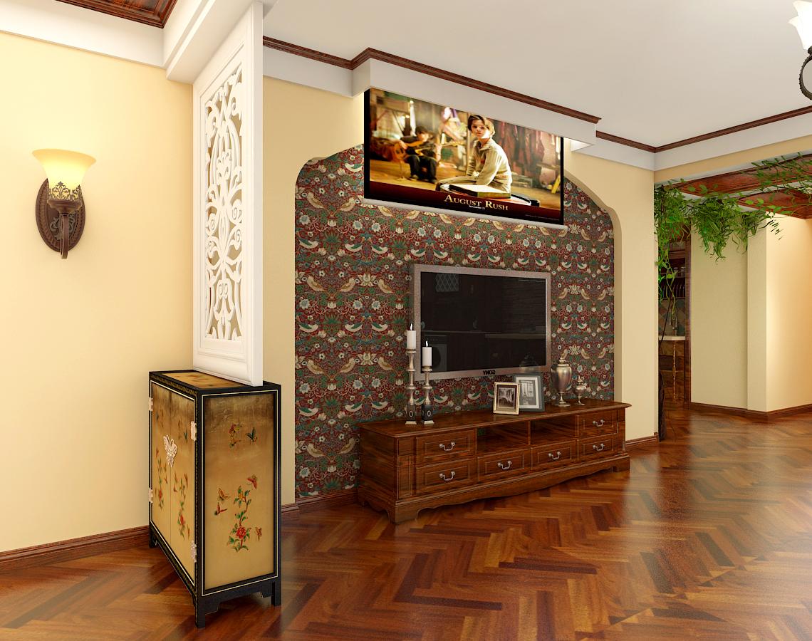 客厅隔断电视墙效果图赏析