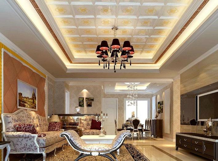 客厅吊顶设计图赏析