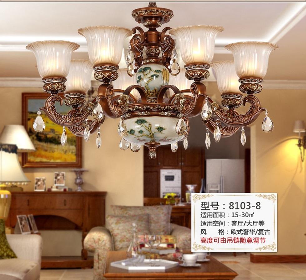 客厅灯具的选择 美式吊灯高清图片