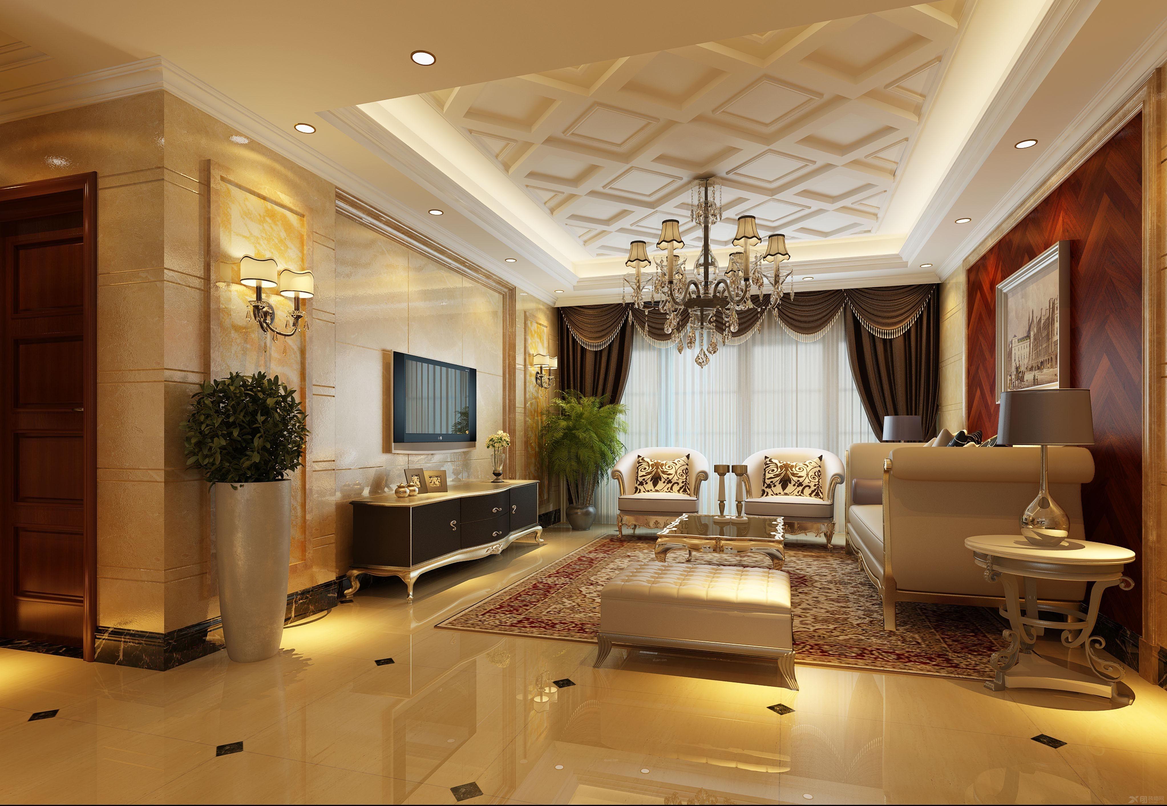 当下最为流行的简欧客厅的特点