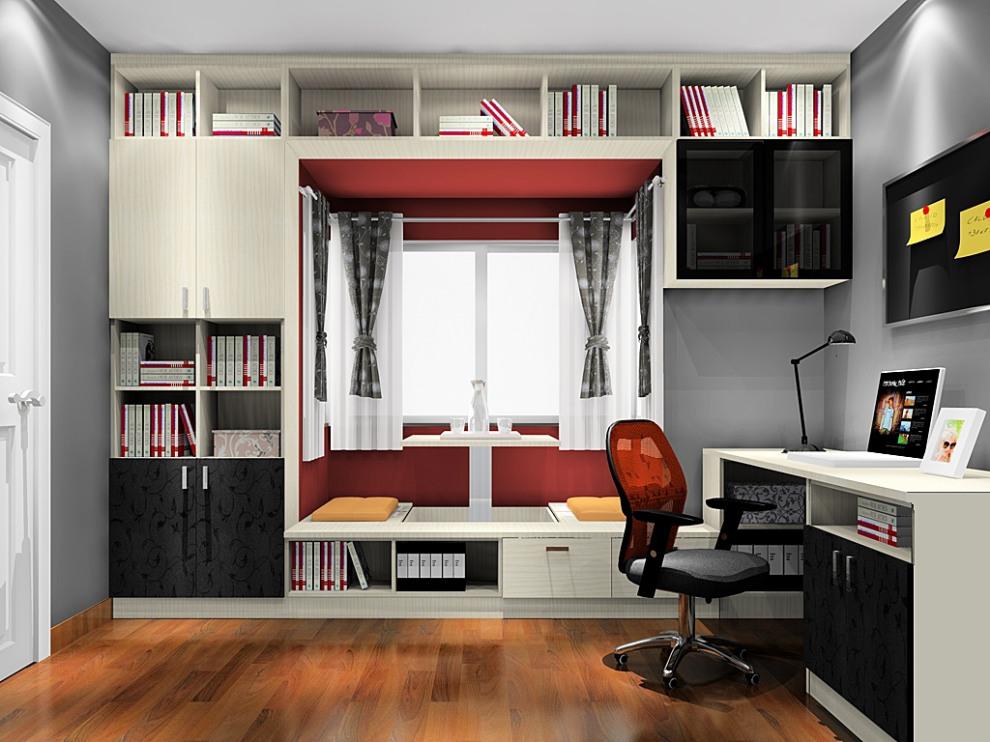 书房设计瞬间扩容小妙招