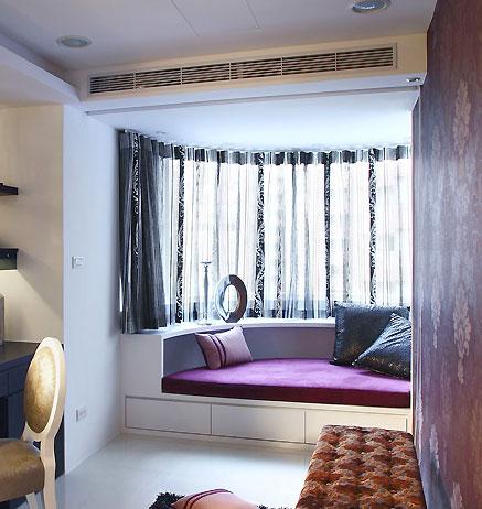 四种类型小户型卧室飘窗设计欣赏