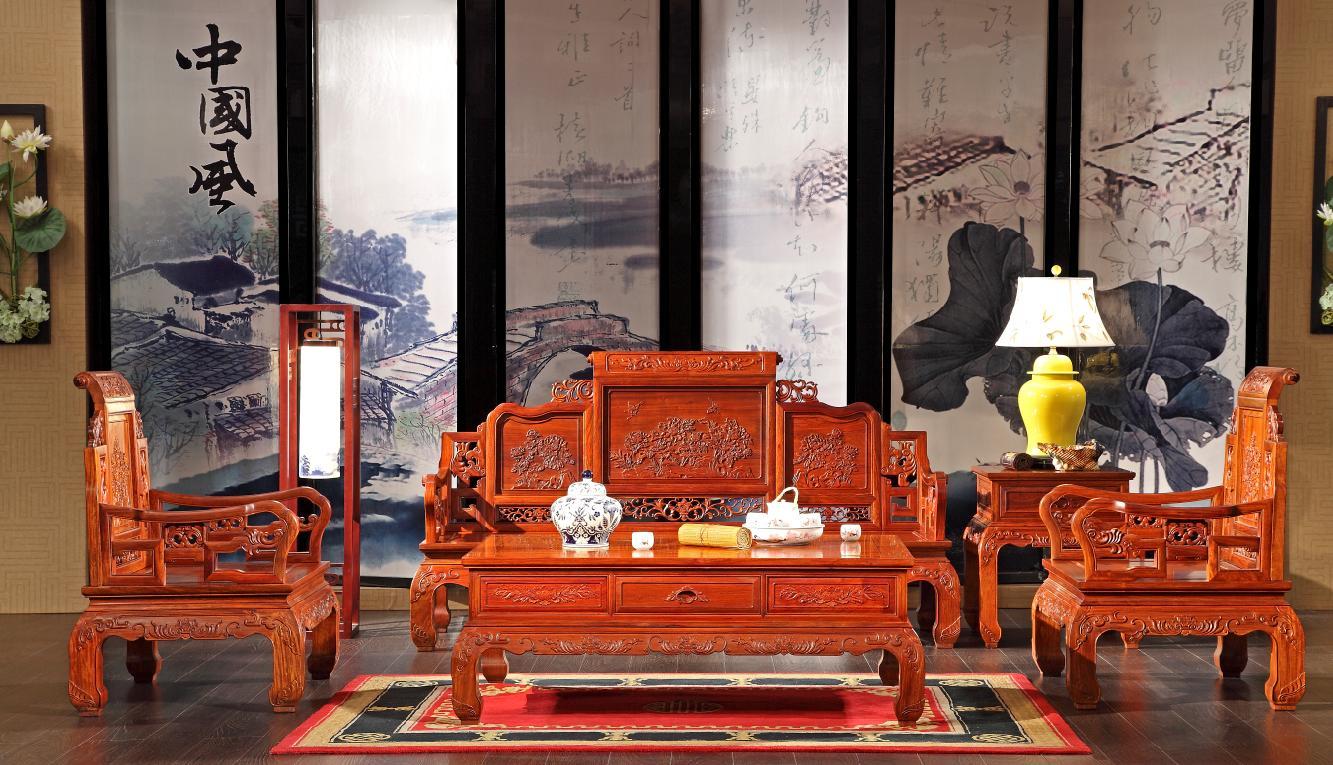 红木家具选购,红木沙发摆放风水