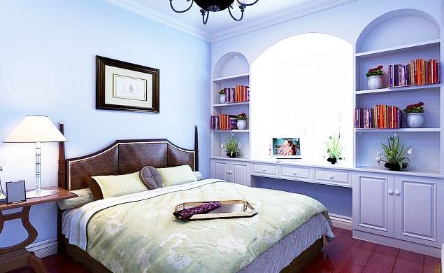 飘窗书桌装修,给卧室增添一份书香气息