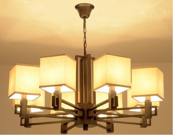 灯具的选择――新中式客厅吊灯