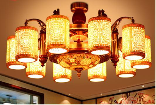 灯具的选择之不同的客厅大吊灯