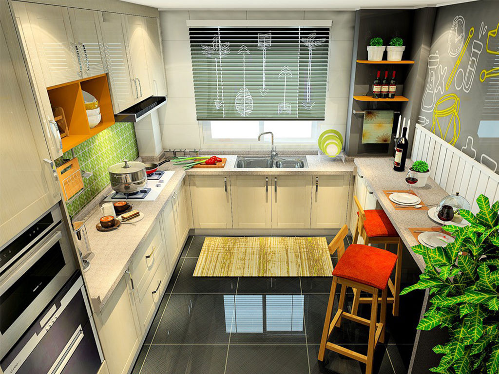 厨房橱柜款式大全,厨房也可以美如画