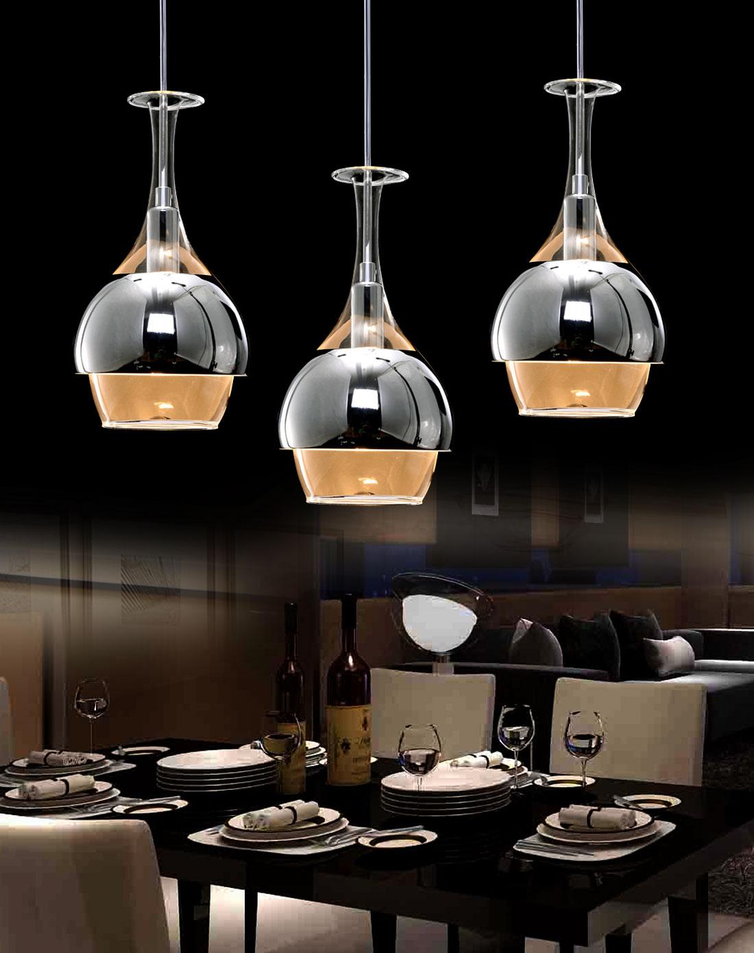 餐厅吊灯高度选择,餐厅吊灯现代简约