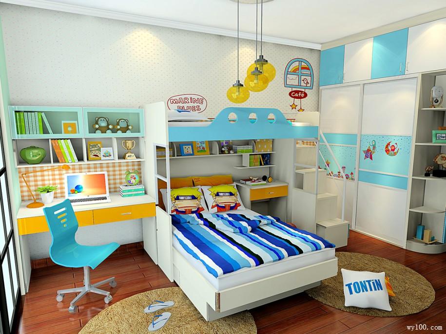 儿童房设计上下床,给孩子更多玩耍空间