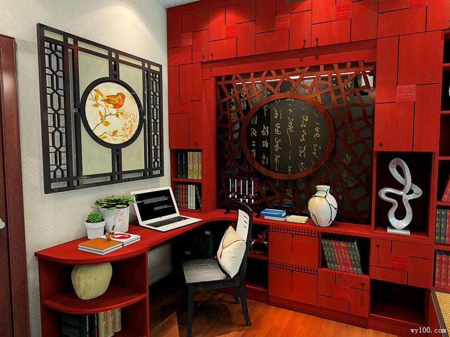 中式书房装修,看得到中华文化